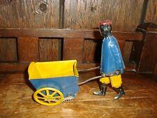 """Vtg  African American """"Porter"""" Wind Up -Ferdinand  Strauss Tip Top Toy-1910"""