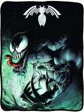Spider-Man Venom Marvel Comics Fleece Throw Blanket