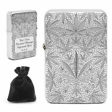 Personalised Engraved Weed Lighter Cannabis Leaf Joint Smokers Birthday Gift
