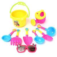9 Pcs Beach Sand Spade Shovel Pit Play Kids Water Plastic Toy Set Sunglass U_X