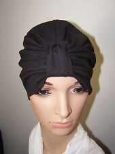 CHEMO/ CANCER / ALOPECIA  COTTON KNIT JERSEY TURBAN HAT WRAP CAP FOR HAIR LOSS