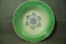 vintage old antique Green blue vegetable serving bowl