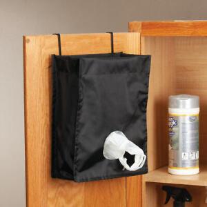 Kitchen Bag Storage Plastic bag holder Farmhouse Decor Plastic Bag Holder Gray Beige Navy blue Bag Holder Recycle plastic bag holder