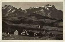 Säntis und Altmann Kanton Appenzell u.a. Schweiz s(w AK ~1940 Panorma ungelaufen
