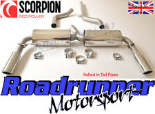 Scorpion Renault Clio 197 Sport Exhaust Cat Back System Non-Res - Rolled In Tips