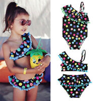 UK Kid Girls Tankini Swimwear Bikini Set Swimsuit Swimming Costume Bathing Suit