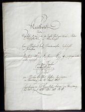 Acte notarié Strasbourg 1833 Stoeber notaire, Marie Catherine Kopp Bon état
