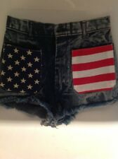Urban Outfitters Urban Renewal Vintage High Rise American Flag Jean Shorts XS 27