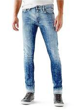 Guess Men's Skinny Jeans In Acid Light Wash Size 30