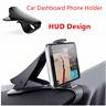 Universal Car HUD Dashboard Mount Holder Stand Bracket For Mobile Phone GPS DEN