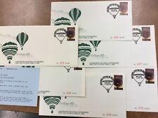 Australia Hot Air Balloon Cover, 1986 Canowindra lot of 6 Postmarker flown