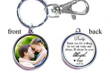 Personalized Wedding Photo Keychain Double-Sided (2 sides) for Father of Bride