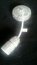 """SILVER CRYSTAL Diamante Chandelier Ceiling Rose Light Lamp Pendant Shade 9"""""""