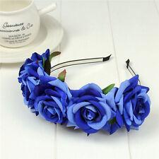 Rose Flower Crown Wedding Festival Headband Hairband Floral Garland Headpiece x