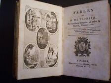 Fables  de  FLORIAN  /  Librairie Guillaume  ( date manuscrite : 1821 )