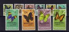 TANZANIA 1973 OFFICIALS SET SG O40-O49 FINE USED.
