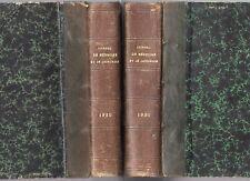 JOURNAL DE MEDECINE ET DE CHIRURGIE 1935 + 1936 2 VOLUMES RELIES DEMI-CUIR