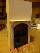 Dolls House  Range Stove Built in with surround  Brick back   dhd085B