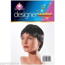 Black Pixie Wig Short Costume Fake Hair Goth Adult Halloween Beatles Girl Female