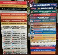 Lot of 40 The Sporting News Football Register Guide  Books 1967-2006
