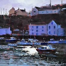 Jeremy Sanders Original Oil Painting - Porthleven Cornwall - Cornish Art