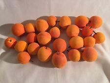 Artificial Apricot Love Fruit, Bag of 24 Small Decorative Fake Fruit, 2 Sizes