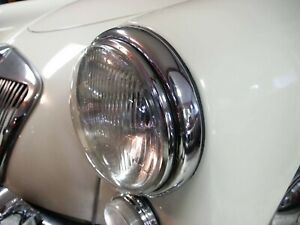 "Invisible 7"" Classic Headlamp Cover MG Triumph Mini Land Rover Racing"
