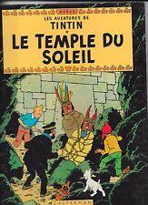 TINTIN   ET  LE  TEMPLE  DU  SOLEIL       HERGE       CASTERMAN    édition  1981