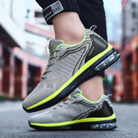Men's Air Cushion Sports Sneakers Breathable Athletic Running Casual Shoes Jog