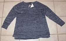 NWT Ellen Tracy XXL Denim Blue Ivory Colored Marled Pullover Sweater