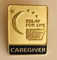 Relay For Life American Cancer Society Caregiver Pin Badge Rare Vintage (R12)