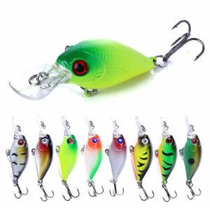 8pcs Lot Crankbaits 5cm/4.4g Minnow Fishing Lures Hook Tackle Hard Bait Wobbler