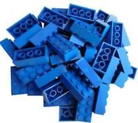 Lego 50 Azul Piedras 2x4 Bloques Básicos (3001) Nuevo Ladrillos