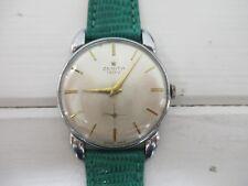 Orologio Vintage Zenith manuale anni 50 acciaio  mm 35 secondo polso perfetto