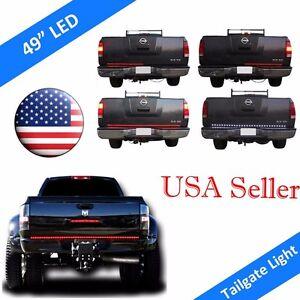"49"" UNIVERSAL LED TailGate Light Bar Turn Signal+Brake+Reverse+TRUCK PICKUP SUV"