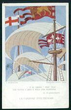 aa Lega Navale Italiana Italy futurist Ship boat original old 1910s postcard