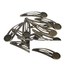 2 HAARSPANGEN BRONZEfarbe 12mm Cabochons Rohlinge Haarklammer - p00870x2-eiv