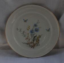 Porzellanteller Hutschenreuther Selb FAVORIT Blumen Gräser Schmetterlinge Blau