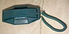 Vintage Microtel Dark Green Unique & Rare Shaped Telephone
