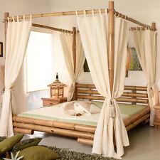 Himmelbett 160x200 Koh Tao Natur Bambusbett Bettrahmen Holzbett Doppelbett Luxus