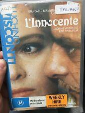 L'innocente ex-rental DVD (1976 Luchino Visconti Italian drama movie) rare