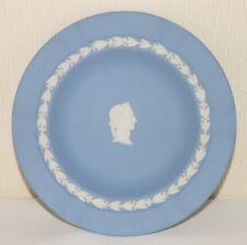 """Vtg 1960s-70s Wedgwood light blue Jasper Ware ashtray Julius Caesar 6⅞"""" 18.7cm"""