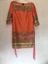 EUR 38 H&M arancione e rosa abito Towie/estate/Feste/Festival/Discoteca/Bohémien Boho RRP £ 30