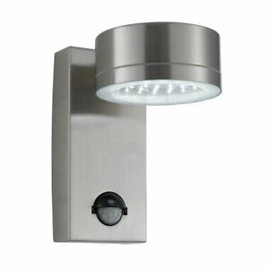 Searchlight 9550SS Stainless Steel IP44 LED Outdoor Wall Light Motion Sensor PIR