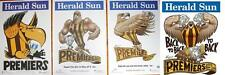AFL 2015 2014 2013 2008 HAWTHORN Premiership PREMIERS Mark Knight WEG Poster