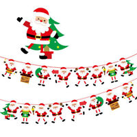 Flags Banner Indoor Outdoor Hanging Decorations Christmas House Pull Decor LD