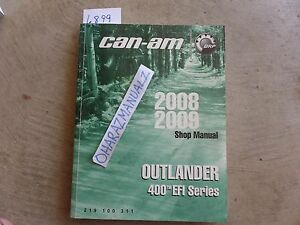 2008 2009 CAN-AM Outlander 400 EFI Series Service Manual OEM