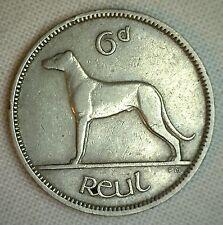 1949 Ireland 6 Pence Irish Coin XF Extra Fine Sixpence
