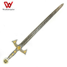 """Sword Wao !! Hand forged Sword- Longsword 38"""" Damascus sword with Leather Sheath"""