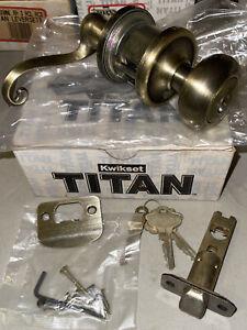 (8) Kwikset Titan Leverset 740HXMNL LH 5 RCL RCS Keyed Lever Handle Door Lock